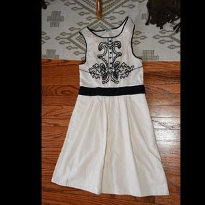 Leifnotes Open Air Theater Ivory Embroidered Dress